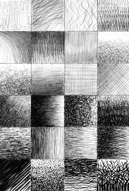 Line Texture Drawing : Selectionsdrawing